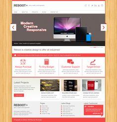 REBOOT - 8 Free Premium PSD Web Templates