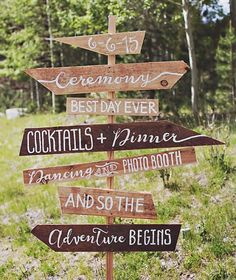 The perfect sign (designed by the bride @chelseamarasphoto) for a rustic wedding as seen #onGWS today {direct link in profile to see the rest of this mountain wedding} : @amandapatrice #weddingideas #rusticwedding
