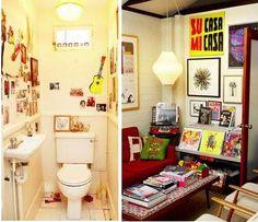 #room, #retro #yellow, #bathroom