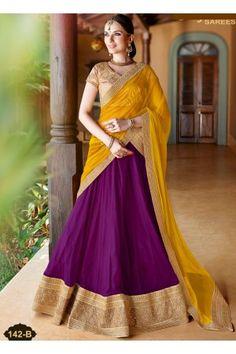 Beautiful Yellow/Purple Lehenga Choli