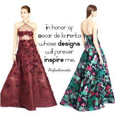 Oscar de la Renta will live forever in his designs ~ Perfashionista #oscardelarenta #fashion #fashiondesigner #fashionicon