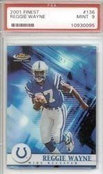 2001 Topps Finest Reggie Wayne Rookie Card PSA 9 Mint by Topps. $59.99