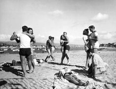 Dancing on the beach in Southern California, 1947