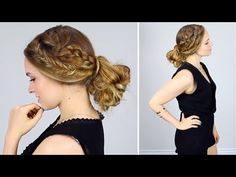 Quick Heatless Messy Bun and Braids for Back to School. Or just Summer / Fall / Life!
