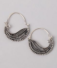 Take a look at this Sterling Silver Wave Earrings by GeoArt on #zulily today!