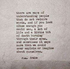 //Look. [r.m. drake] #words