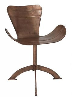 HK-living Stoel Wing chair copper koper buin