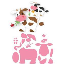 Boutique scrapbooking - Die BigShot Marianne Design vaches ferme