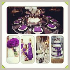Cadbury purple, silver and black inspiration board
