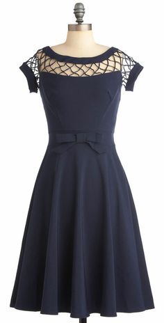 With Only a Wink Dress in Navy