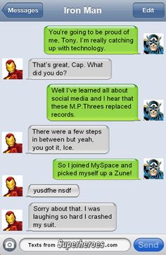 There are unexpected dangers to being friends with Cap. http://textsfromsuperheroes.com/