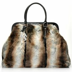 Donna Salyers Fabulous-Furs Faux Fur Weekender Tote Bag~ but the Leopard is SO fun!!!!!!