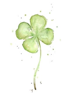 Water color shamrock