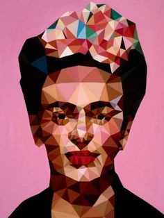 "Saatchi Art Artist Angie Jones; Painting, ""Ms. Kahlo"" #art"