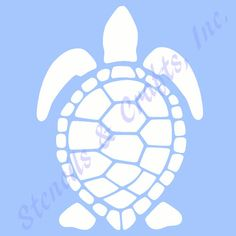 "7.5"" TURTLE STENCIL TEMPLATE sea beach ocean sealife nautical template templates stencils pattern paint craft background art new"