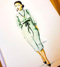 Aquarell, Curvy, Curvyfashion, Fashion, Fashionillustration, Illustration, Mode, Modeillustration, Watercolour Edit
