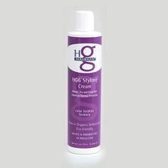 HairGia's HG6 Styling Cream thickens hair while providing thermal protection and shine. All natural hair care. #hair #haircare