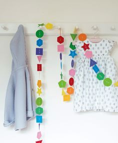 Threaded shapes garland. Copyright © Ryland Peters & Small Ltd