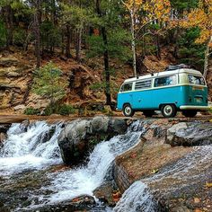 Life goal! Waterfall hunting in a VW Bus