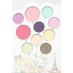 Sephora x Hello Kitty Eyeshadow Blush Palette Mon Amour ❤ liked on Polyvore featuring beauty products, makeup, eye makeup, eyeshadow and palette eyeshadow