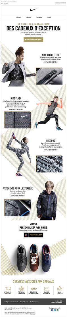 Retrouvez toutes les newsletters de la marque Nike dans notre galerie de newsletters.