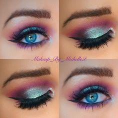 Mermaid looking eye makeup