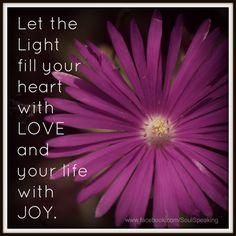 For more inspiration please visit  www.facebook.com/SoulSpeaking