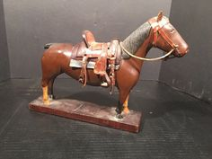 #antique Antique Carved Wood Horse- Folk CARVING BY COTTON OF HUNTINGTON W VA RARE please retweet