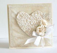 wedding card - stencil Memory Box