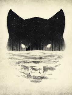 snow Illustration art wolf design trees forest graphic design negative space ell-h Art And Illustration, Art Illustrations, Desenho Tattoo, Wolf Tattoos, Lone Wolf Tattoo, Wolf Face Tattoo, Tatoos, Tattoo Cat, Inspiration Art