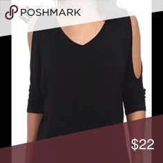 Cold Shoulder black blouse women's medium NWT Kut Kut From The Kloth Namebrand NEW WITH TAGS women's Medium black cold-shoulder blouse.  Comes from a smoke free home.  Buy with confidence I am a top rated seller, fast shipper, and mentor.  Bundle and save 15%.  Thank you. Kut from the Kloth Tops Blouses