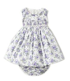 Bonnie Baby Baby Girls Newborn-24 Months Floral-Printed A-Line Dress Baby Girl Newborn, Baby Baby, Baby Girls, Newborn Outfits, Girl Outfits, Floral Prints, Rompers, Clothing Accessories, Printed