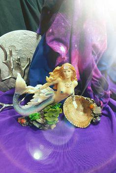 Mermaid Blessings/ Mermaid Figurine/ Dense by KathrynWhiteWolfArt