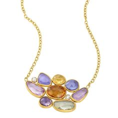 Lika Behar 24K Gold, Silver, Diamond & Sapphire Necklace