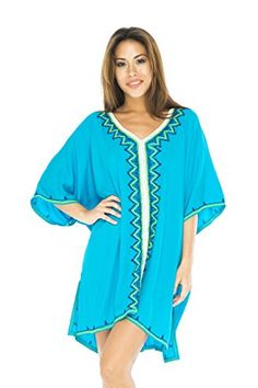 Back From Bali tunic dress with embroidery and contrast stitching. Looks great over leggings, jeans, and swimsuits for a boho look Maternity Swimwear, Dress Skirt, Tunic Dresses, Boho Look, All About Fashion, Resort Wear, Fashion Brands, Short Dresses, Tunic Tops