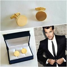 Nothing suits better to the groom than this pair of matte gold cufflinks! Men Accesories, Groom Cufflinks, Matte Gold, Wedding Suits, Wedding Jewelry, Fine Jewelry, Pairs, Chic, Collection