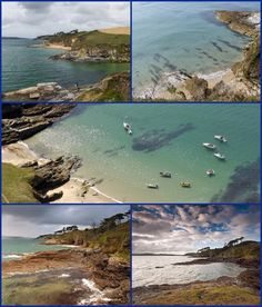 More images of Great and Little Molunnan Beaches, Roseland Penninsula, Cornwall.