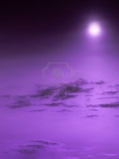 The incredible purple sky.