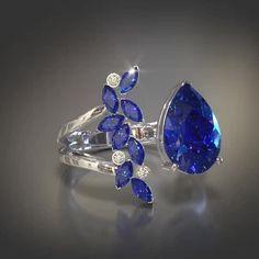 Gems Jewelry, Jewelery, Fine Jewelry, Music Jewelry, Sapphire Jewelry, Blue Sapphire Rings, Sapphire And Diamond Earrings, Fashion Rings, Fashion Jewelry