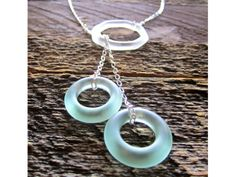 Beautiful necklace made from recycled glass
