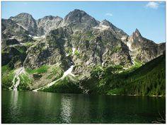 Morskie Oko - Mięguszowieckie Szczyty, Mnich - Tatry #Morskie #Oko #Mięguszowieckie #Szczyty #Mnich #krajobrazy #górskie #Poland #Polska #zdjęcia #HDR #photography #landscapes #góry #Mountains #Tatry #Tatra #Mountains