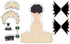 Bakugou Katsuki Chibi Papercraft by JulietRuth on DeviantArt Cute Anime Chibi, Kawaii Chibi, Boku No Hero Uraraka, Paper Toys, Paper Crafts, Paper Doll Template, Anime Crafts, Bullet Journal Art, Cosplay Diy