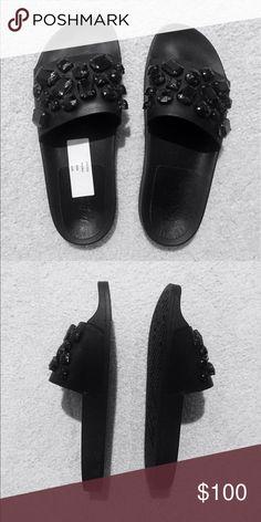 Loeffler Randall jewel embellished sandal Never worn! Great for day and evening looks. Super comfortable. Loeffler Randall Shoes Sandals