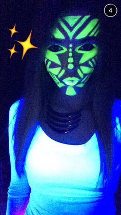 glow in the dark face paint - Google Search                                                                                                                                                                                 More