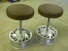 tire rim bar stool - Google Search