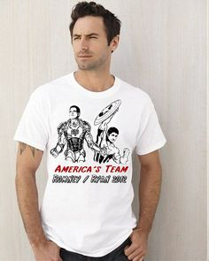 AMERICA's Team Super Hero vote ROMNEY funny iron Mitt by Elefunny, $14.99