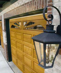 @Clopay Garage Doors | Residential Garage Doors and Entry Doors | Commercial Doors Classic Wood Collection Short Raised Panel Garage Doors with Horizon Glass