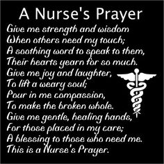 Nurse's Prayer by ThreeDamesDreamin on Etsy