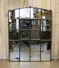 Antique Warehouse Window Glazed With Antiqued Mirror Glass At  Thearchitecturalforum.com