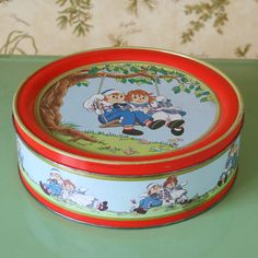 Raggedy And & Andy Tin vintage #raggedyann #raggedyandy #tin